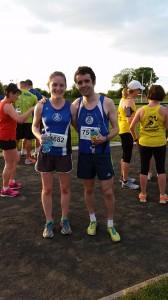 2015-05-26 Orla Timmins & Eoin Callaghan (SOS) winners of ladies & mens races